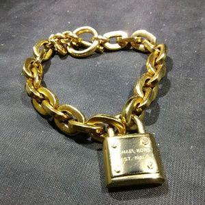 Gold bracelet Michael Kors Lock  piece women's